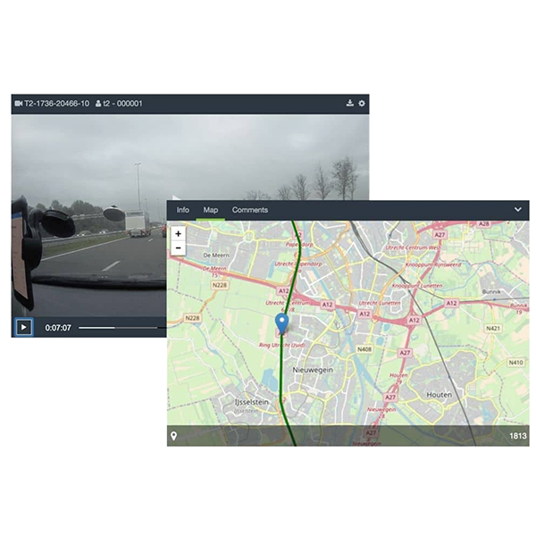 Bodycam GPS location - ZEPCAM Manager 2